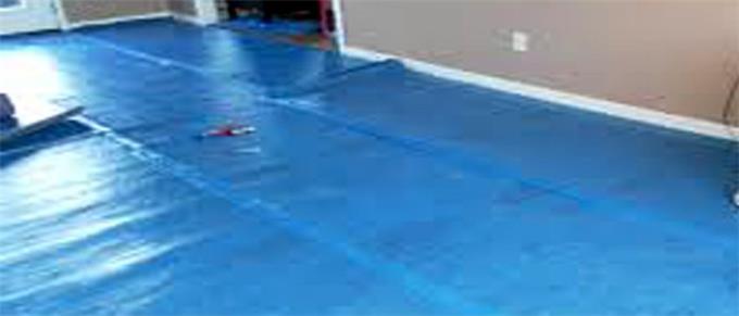 Laminate Flooring Installed On Invaber Vapor Barrier Under