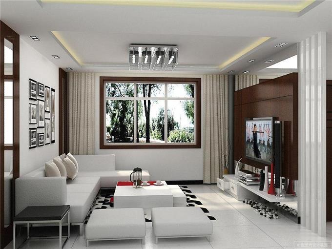 Siling Ruang Tamu Moden Deco Desain Rumah