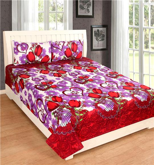 702ae86cae47b Suitable Wedding on Invaber - Red Color Bed Sheet Wedding