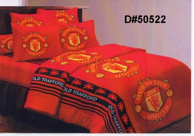 Manchester United On Invaber Threads Count Tetron Cotton Remains Men S Manchester United Fc Double Duvet Cover Set Bed Sheets