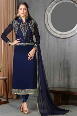 Andaaz - Georgette Churidar Suit With Dupatta