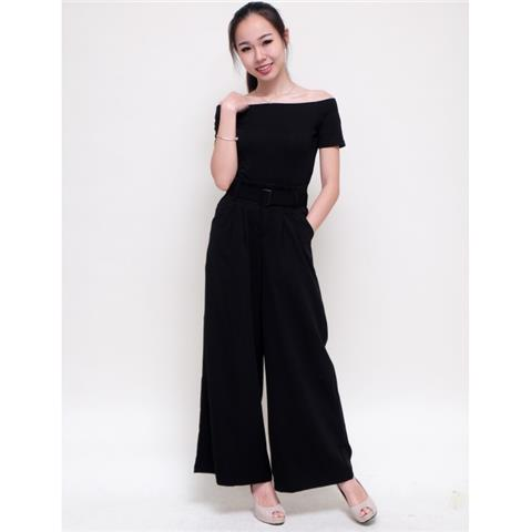 Just Sense Boutique - Material Stretchable Top Slightly Stretchable