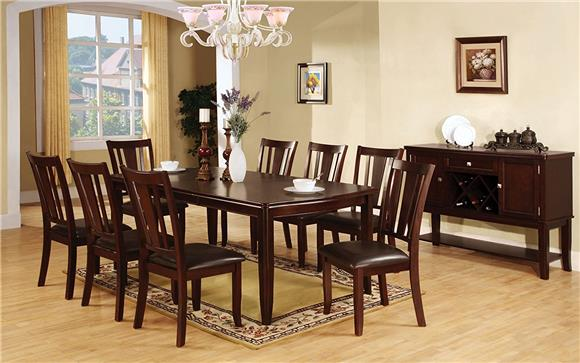 Dining Table Set - Furniture America Frederick 9-piece Dining