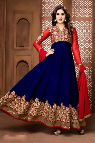 Andaaz - Georgette Anarkali Churidar Suit With