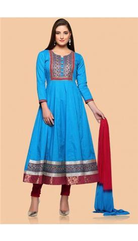 Andaaz - Cotton Anarkali Suit Online