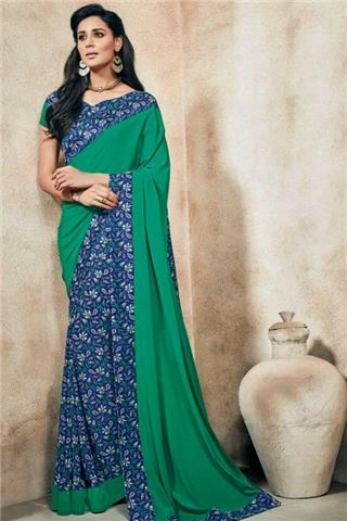 Andaaz - Crepe Saree With Crepe Blouse