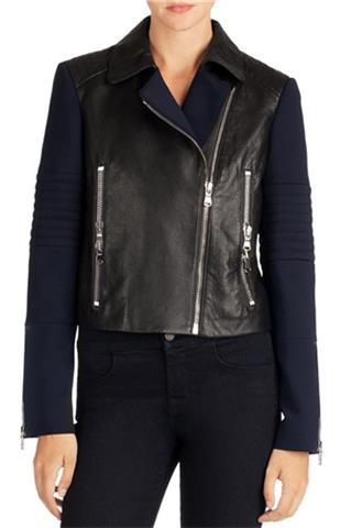 Double Zipper - Leather Moto Jacket