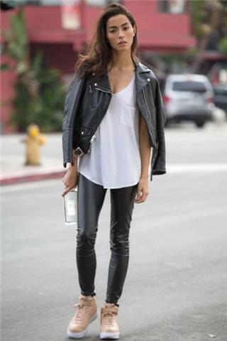 Zip Pockets - Leather Moto Jacket