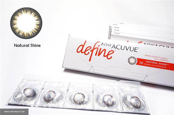 Looking Closely - 1-day Acuvue Define Contact Lenses