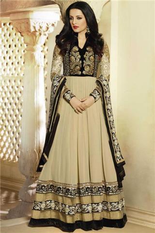 Andaaz - Semi Stitch Anarkali Churidar Suit