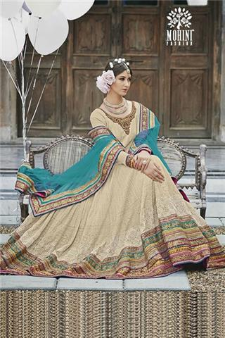 64f275ae5cf Lengha Suit - Georgette Heavy Embroidery Anarkali Indian